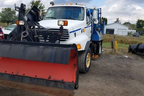 2004 STERLING DUMP TRUCK WITH SNOW PLOW AND SANDER $22500